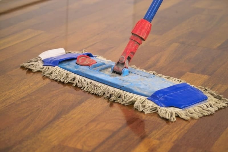Clean the parquet properly
