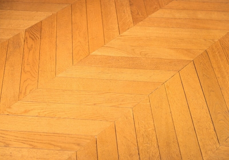 Popular parquet type: French herringbone